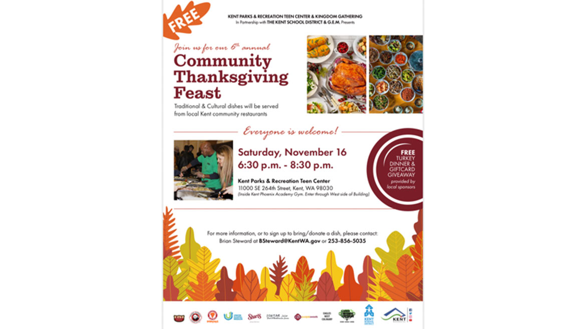 Kent Parks Recreation Thanksgiving Feast